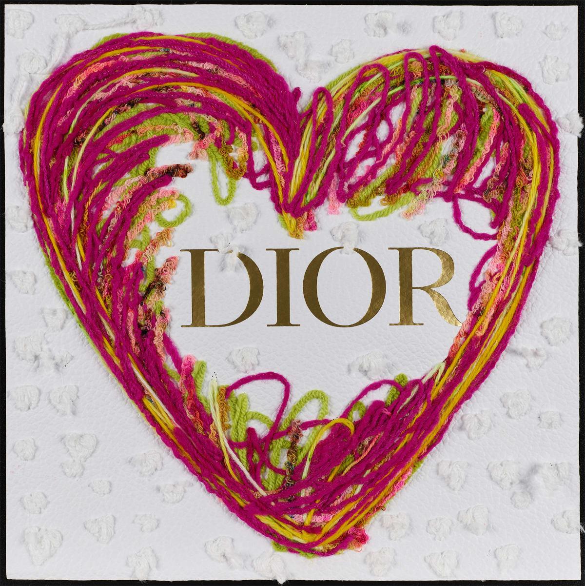 Stephen Wilson, Dior Sketchy Heart (Pink), 2019