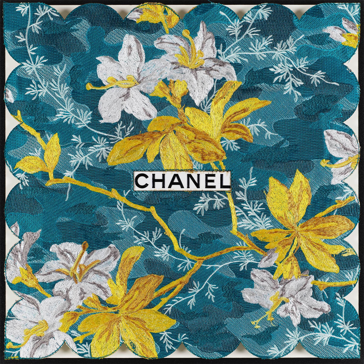 Stephen Wilson, Tropical Chanel (Teal), 2019