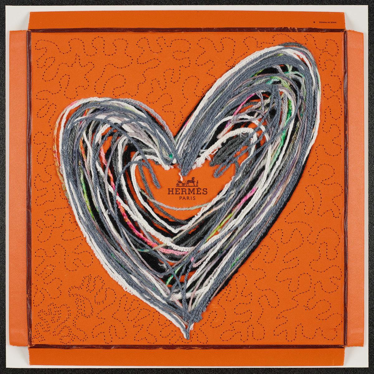 Stephen Wilson, Hermes Yarn Heart (Gray), 2020