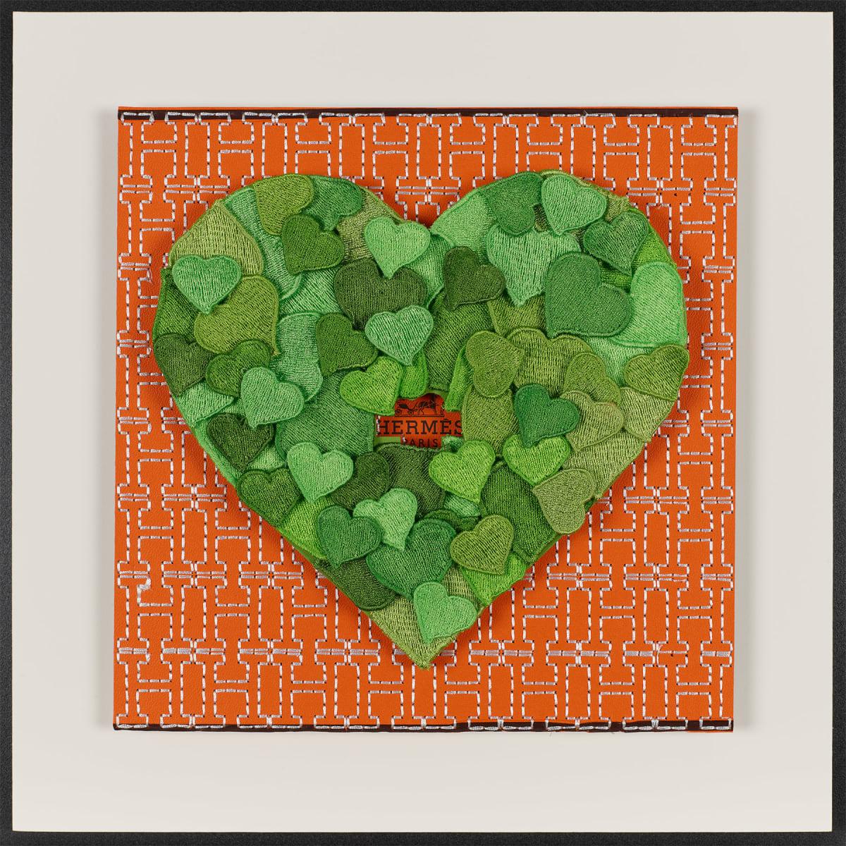 Stephen Wilson, Hermes Hearts, Green, 2019