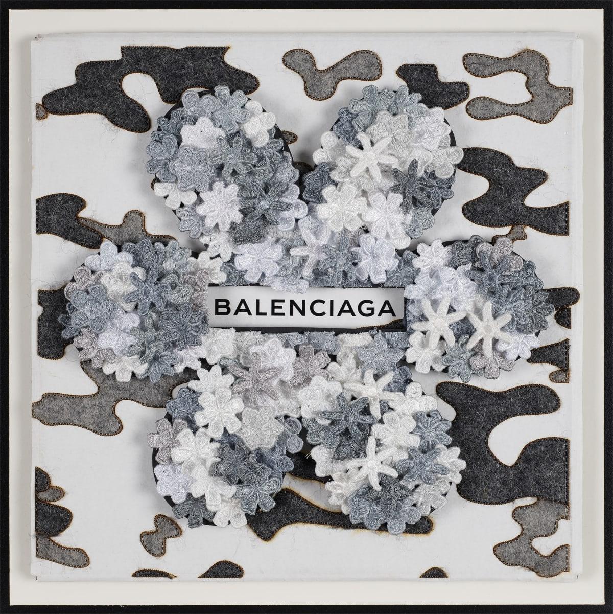 Stephen Wilson, Balenciaga Flower Flower, Silver , 2019