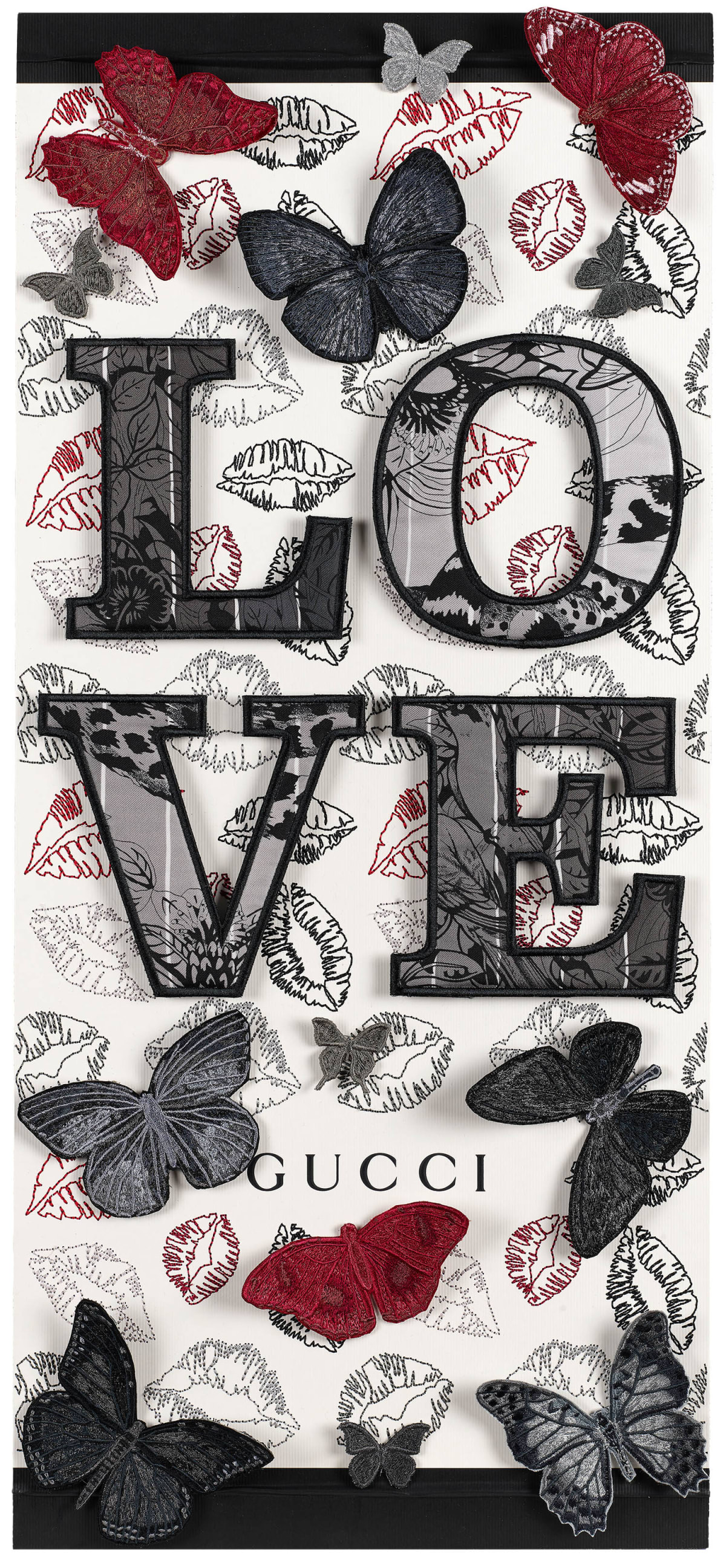 Stephen Wilson, Butterfly Kisses (Charcoal), 2020