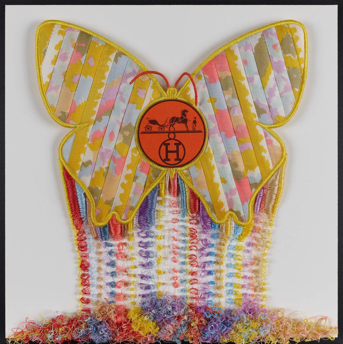 Stephen Wilson, Hermes Butterfly Drip, 2019
