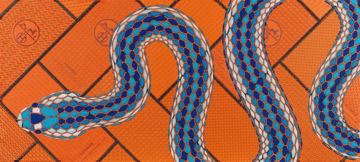 Stephen Wilson, Hermes Cobalt Serpent, 2020