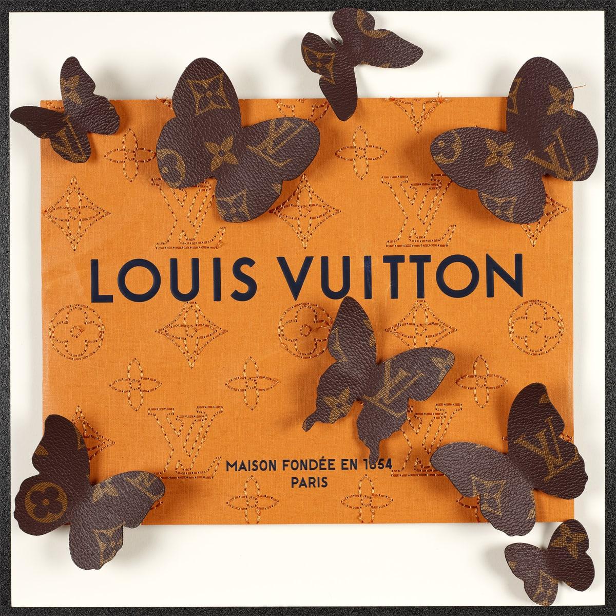 Stephen Wilson, Leather Vuitton Kaleidoscope V, 2020
