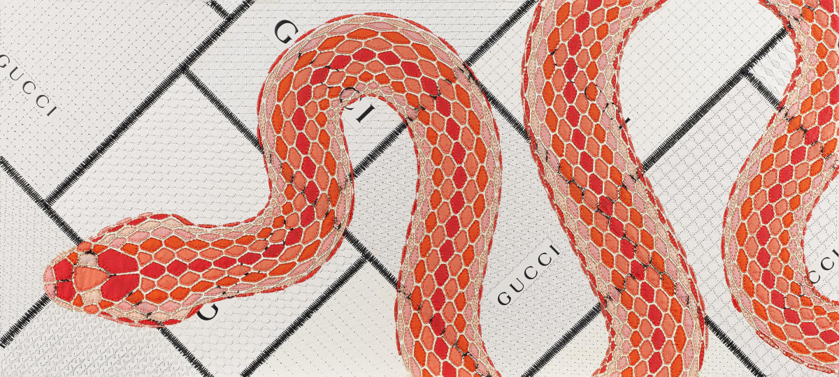 Stephen Wilson, Gucci Serpente (Coral), 2020