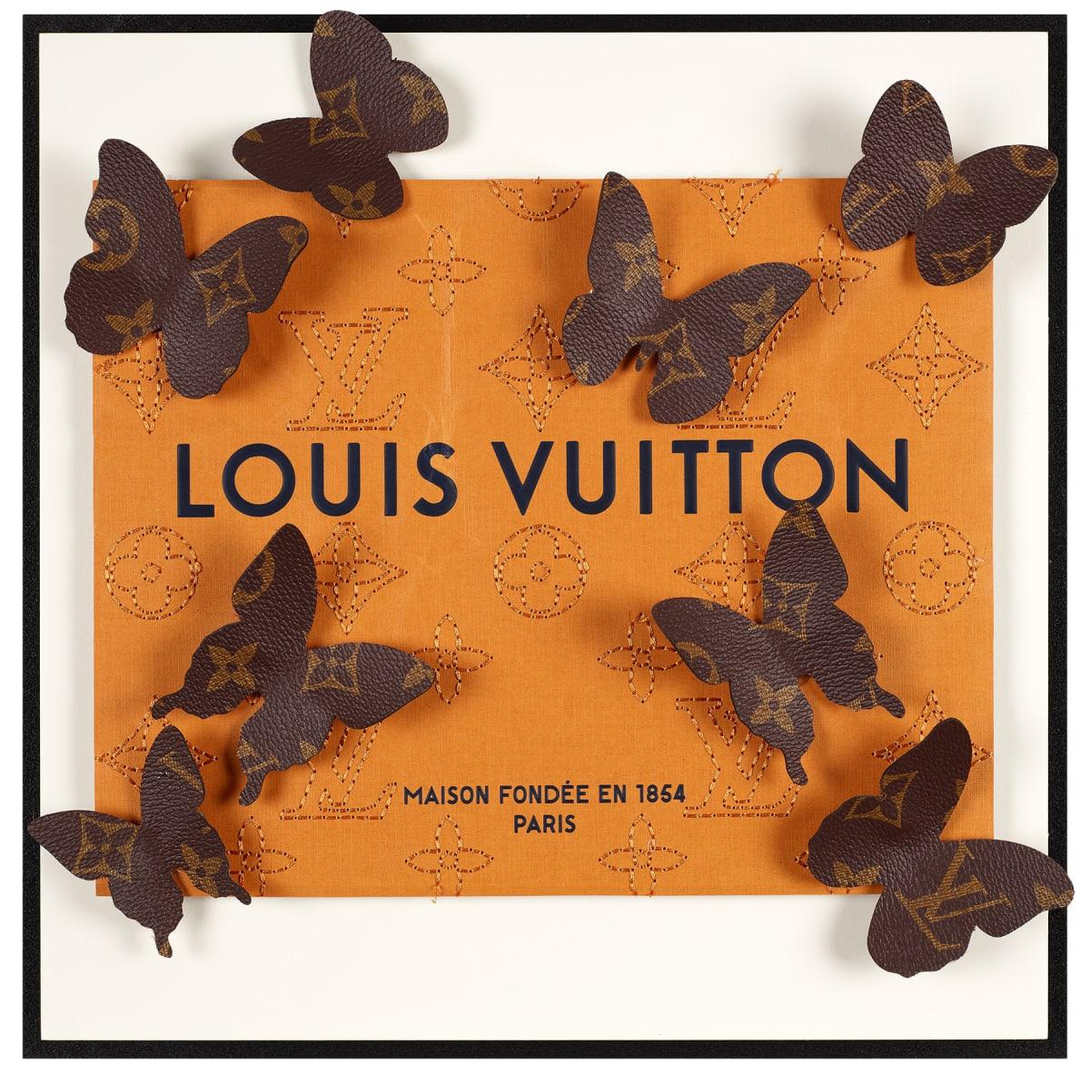 Stephen Wilson, Leather Vuitton Kaleidoscope IV, 2020