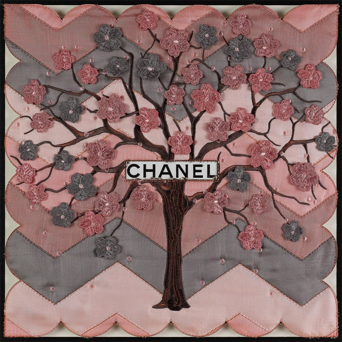 Stephen Wilson, Chevron Tree (Pink), 2019