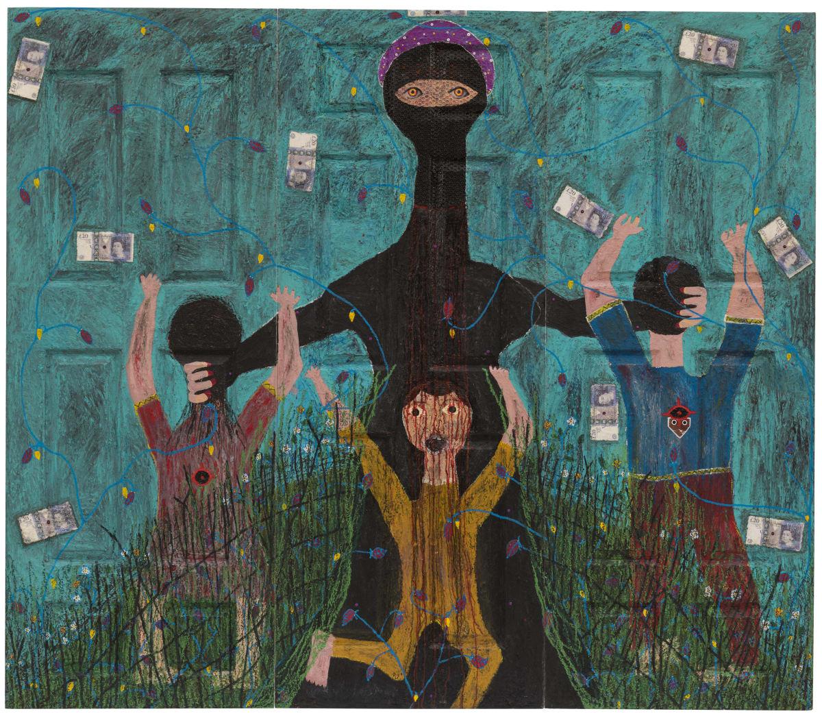 Adjani Okpu-Egbe, Syrian Civil War (Triptych), 2019