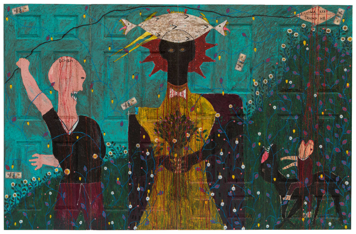 Adjani Okpu-Egbe, Fabricated Anthropology ( Quadriptych), 2019