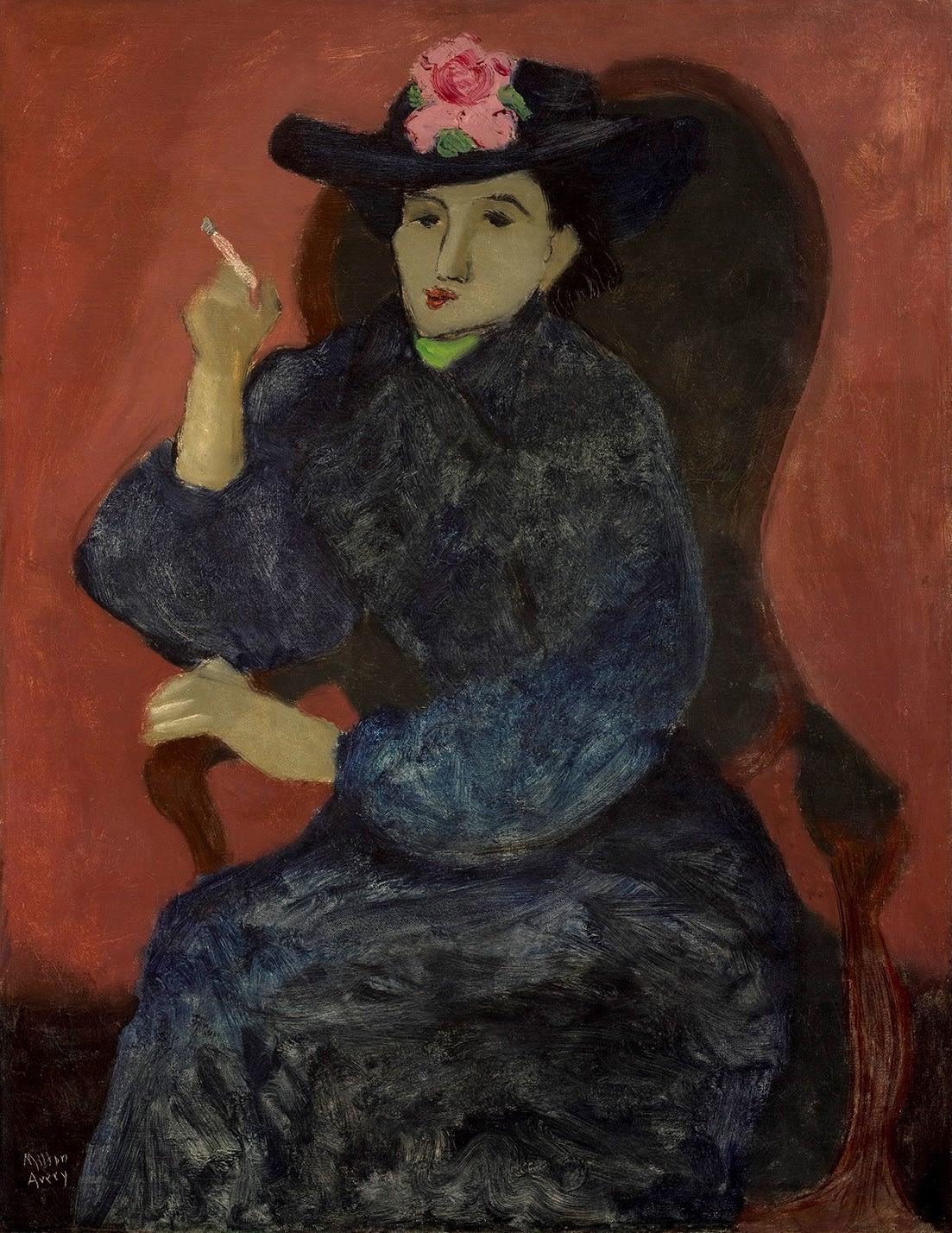 Milton Avery, Woman in Blue, 1935