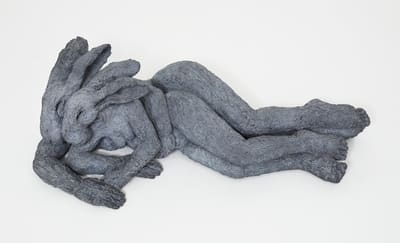 Sophie Ryder, Reclining Lady Hares (Mother and Child), 2003