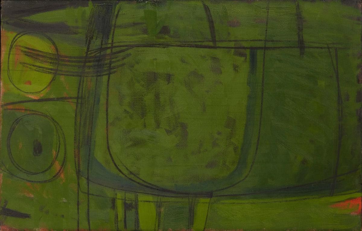 Wilhelmina Barns-Graham, Motive in Green – Spanish Island, 1959