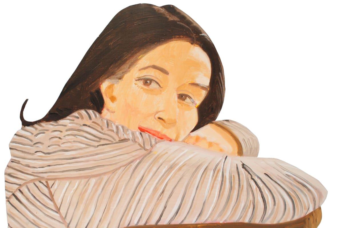 Alex Katz, Ada in Striped Dress, 1981