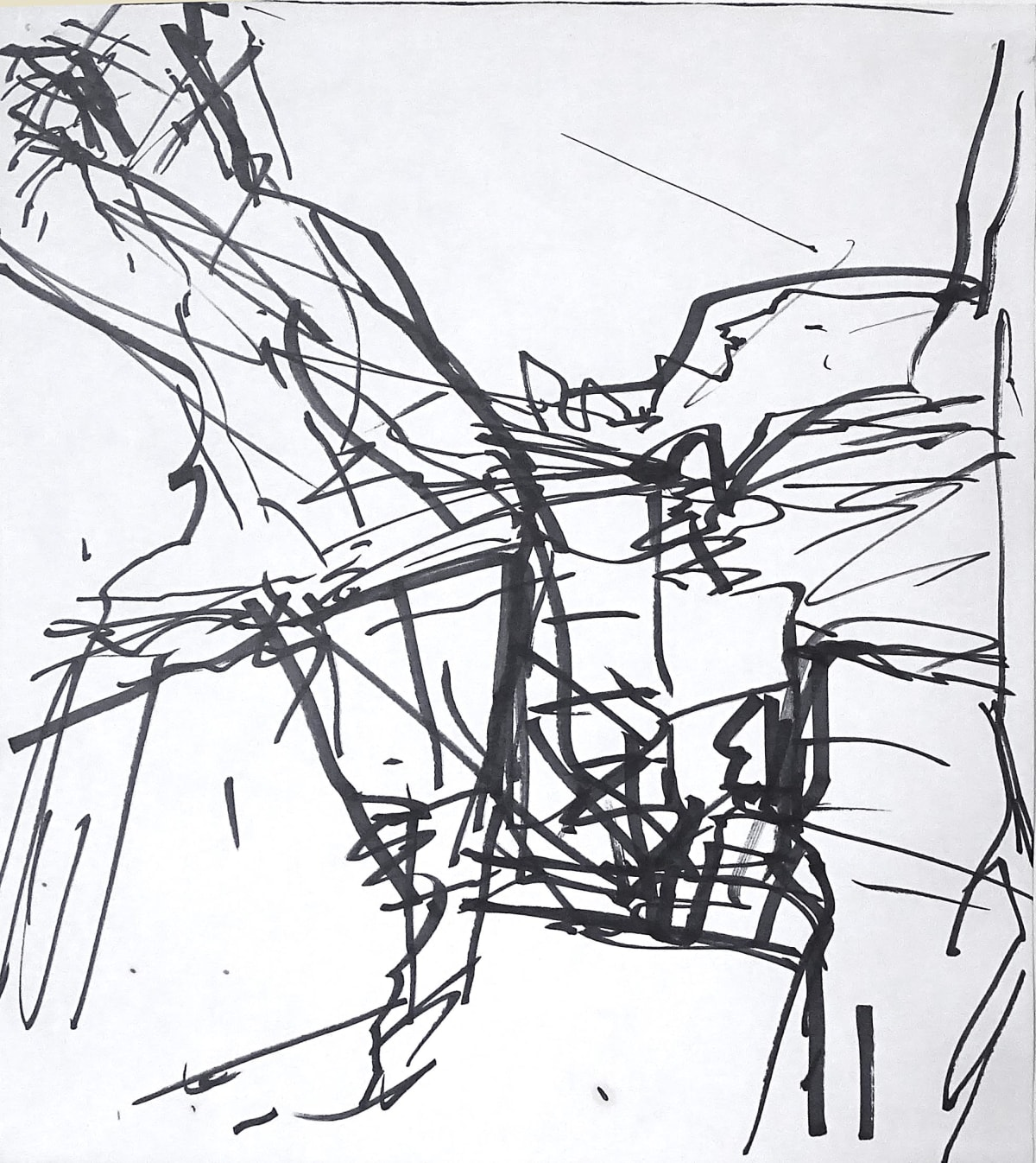 Frank Auerbach, Study for 'To the Studios', 1990-1991