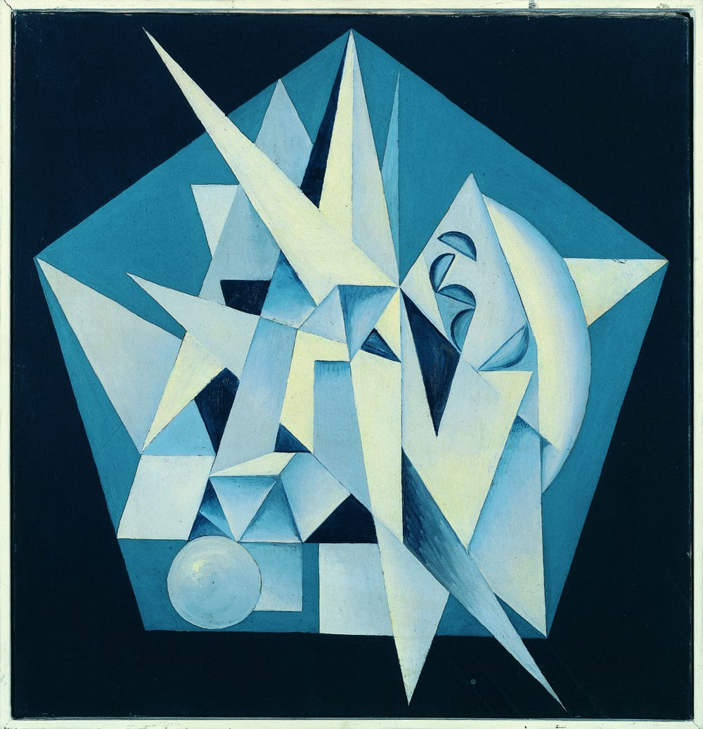 Georges Folmer, Composition bleue, 1940-1942