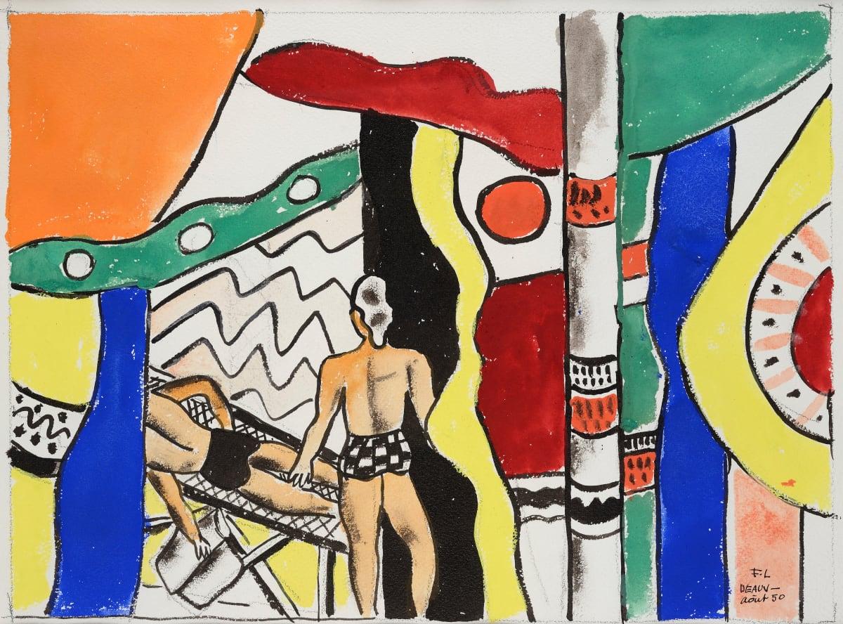 Fernand Léger, Deauville la sieste, 1950