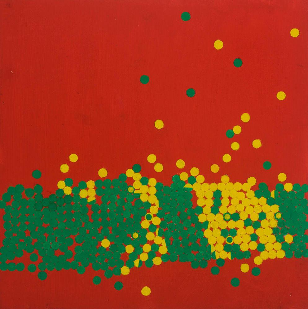 Wilhelmina Barns-Graham, Invasion III Lemon and Emerald on Scarlet, 1970