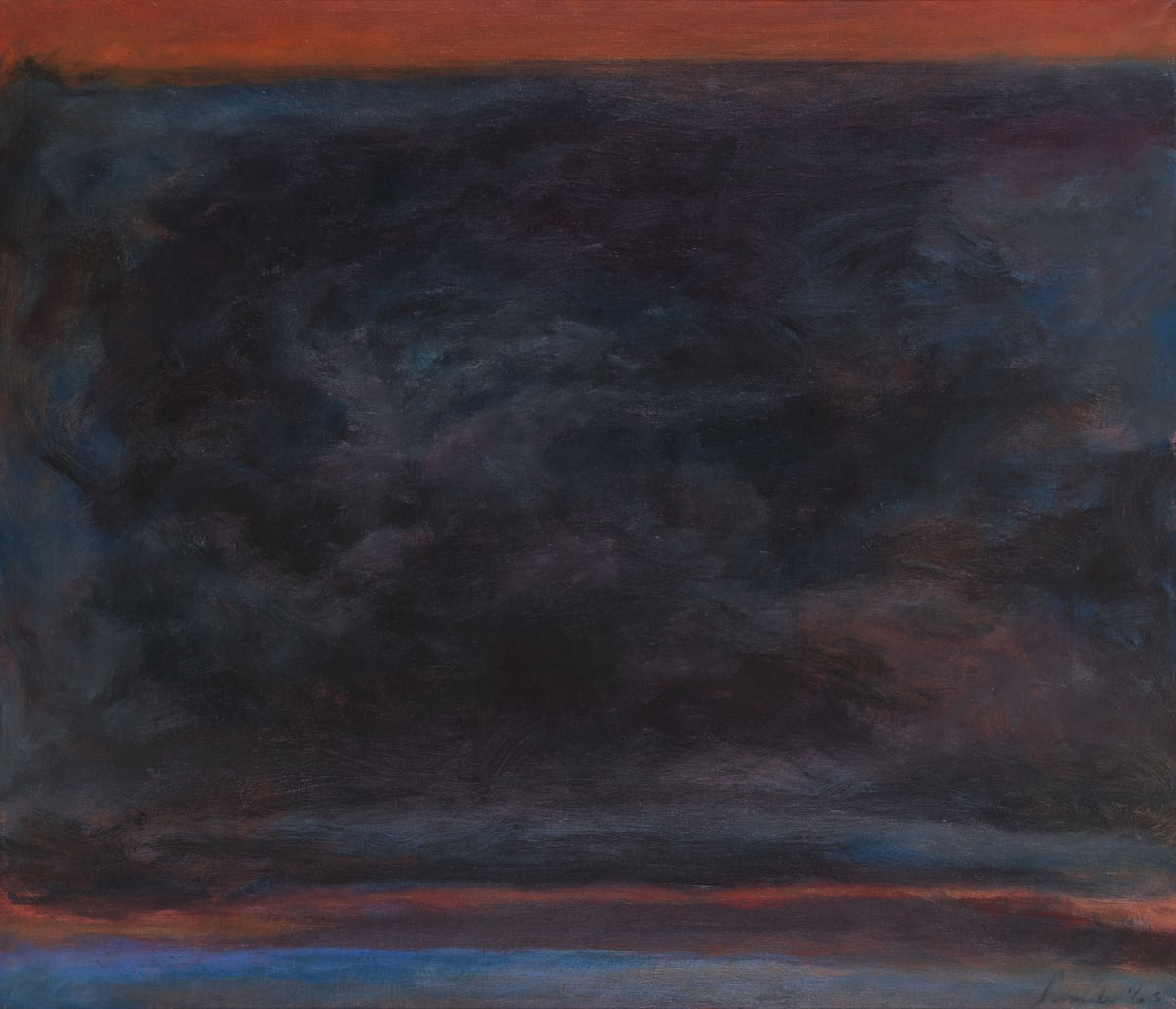 Jon Schueler, A Memory of the Sound of Sleat, 1963