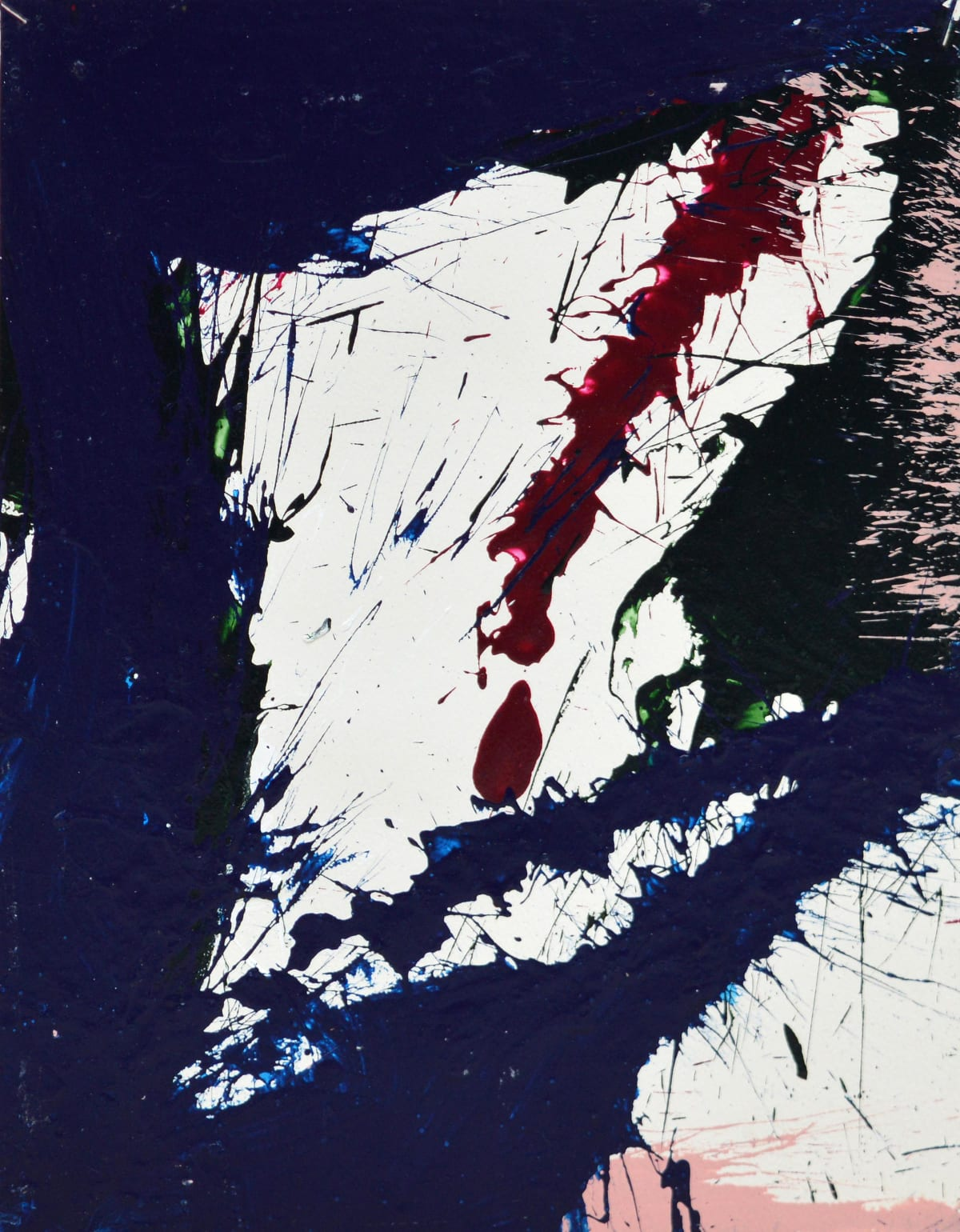 Norman Bluhm, Composition in blue and pink 2, 1967