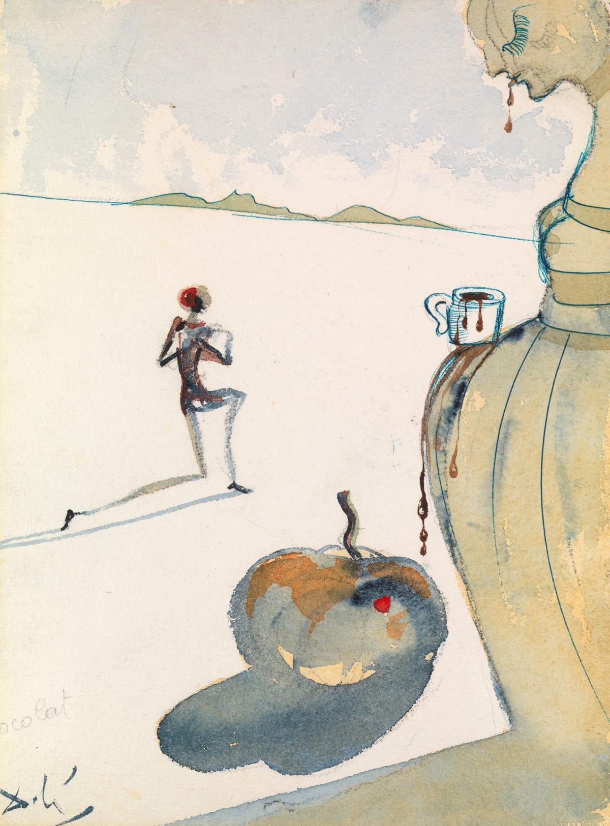 Salvador Dali, Chocolat, 1966