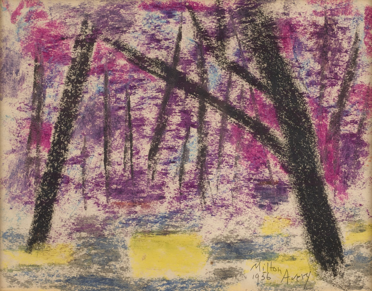 Milton Avery, Evening Forest, 1956