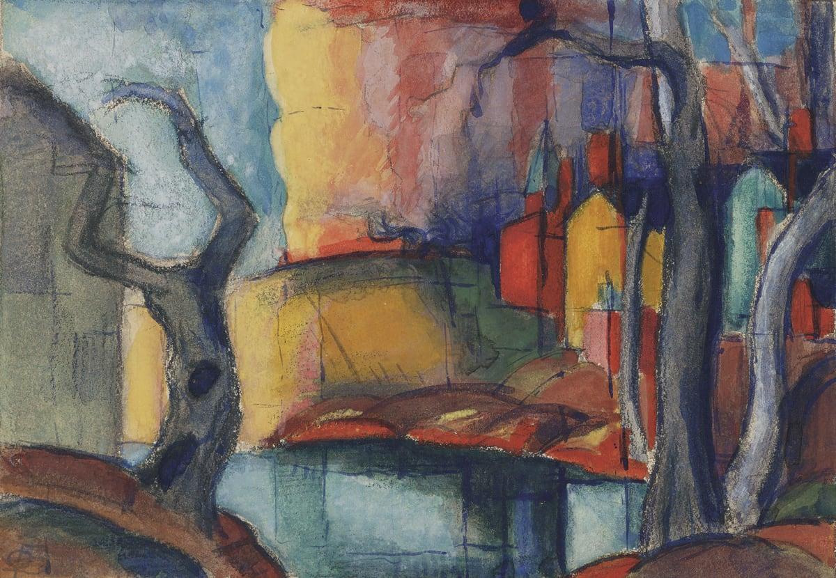 Oscar Bluemner, Scandal in the Village, 1919