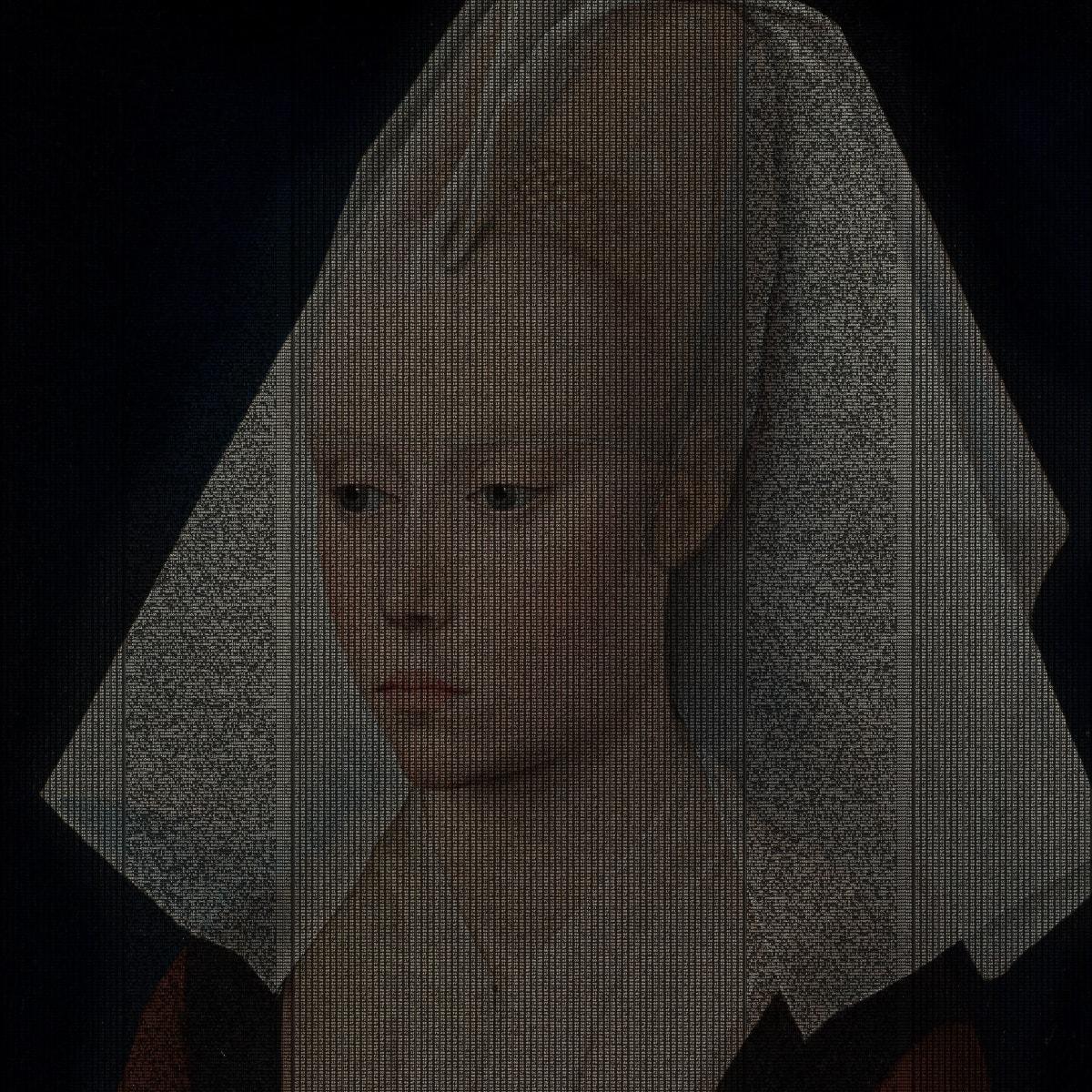 Jean-François Rauzier, Rogier van der Weyden, Portrait d'une jeune femme, c.1460, 2013