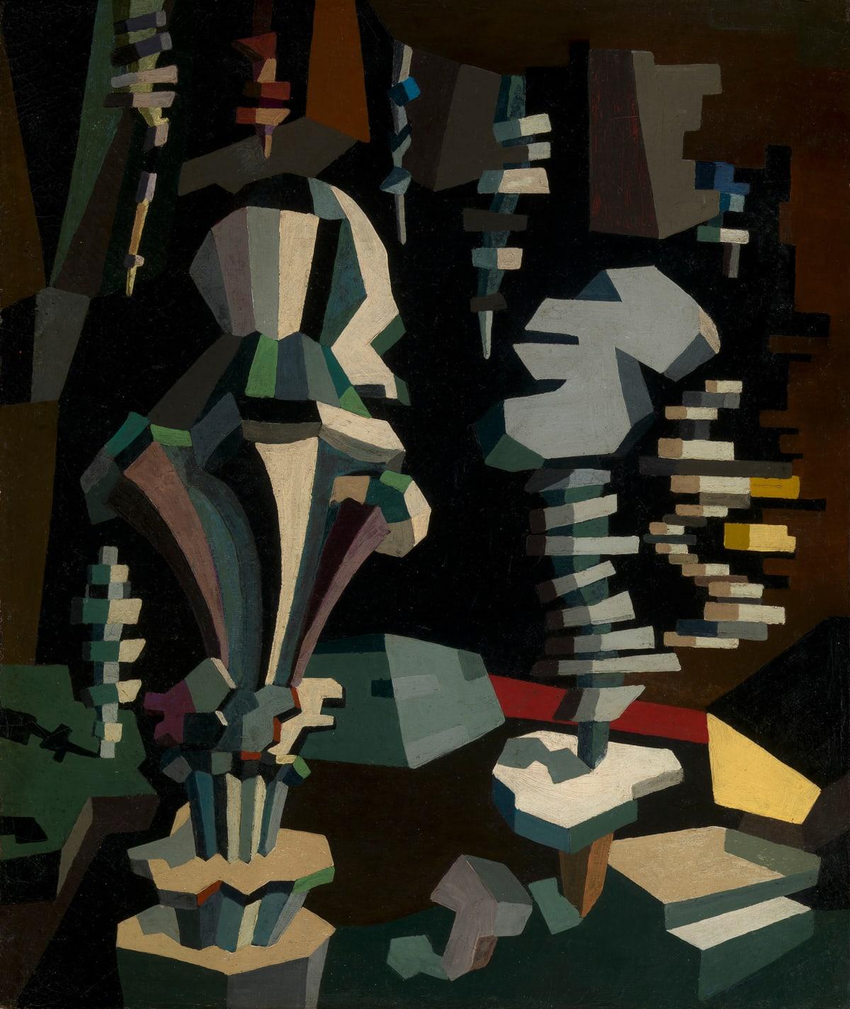 Angel Zarraga, Composition cubiste, Circa 1913-1915