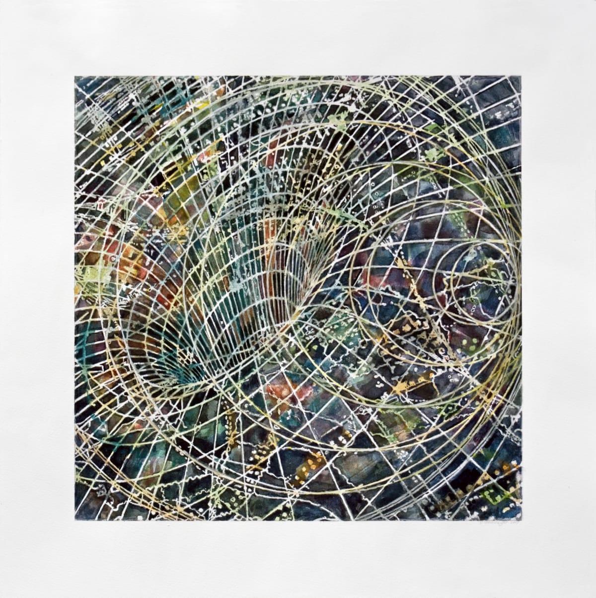 Cheryl Goldsleger, Resound (watercolor study), 2019