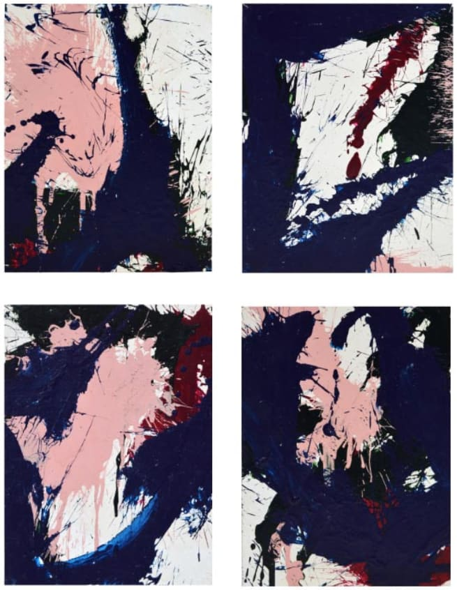 Norman Bluhm, Composition in Blue & Pink, 1967