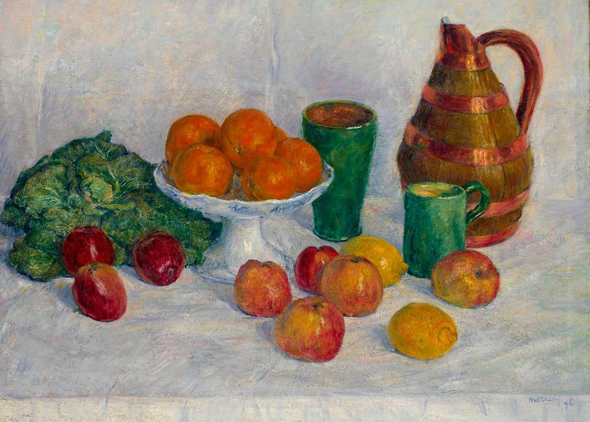 Georges Morren, Nature morte aux fruits et légumes, 1898