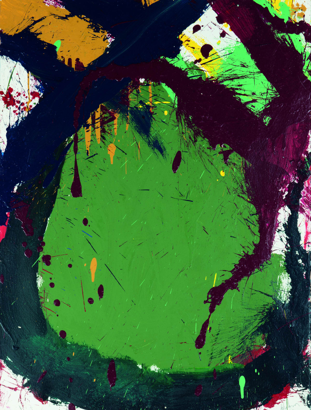 Norman Bluhm, Composition in Green, 1967