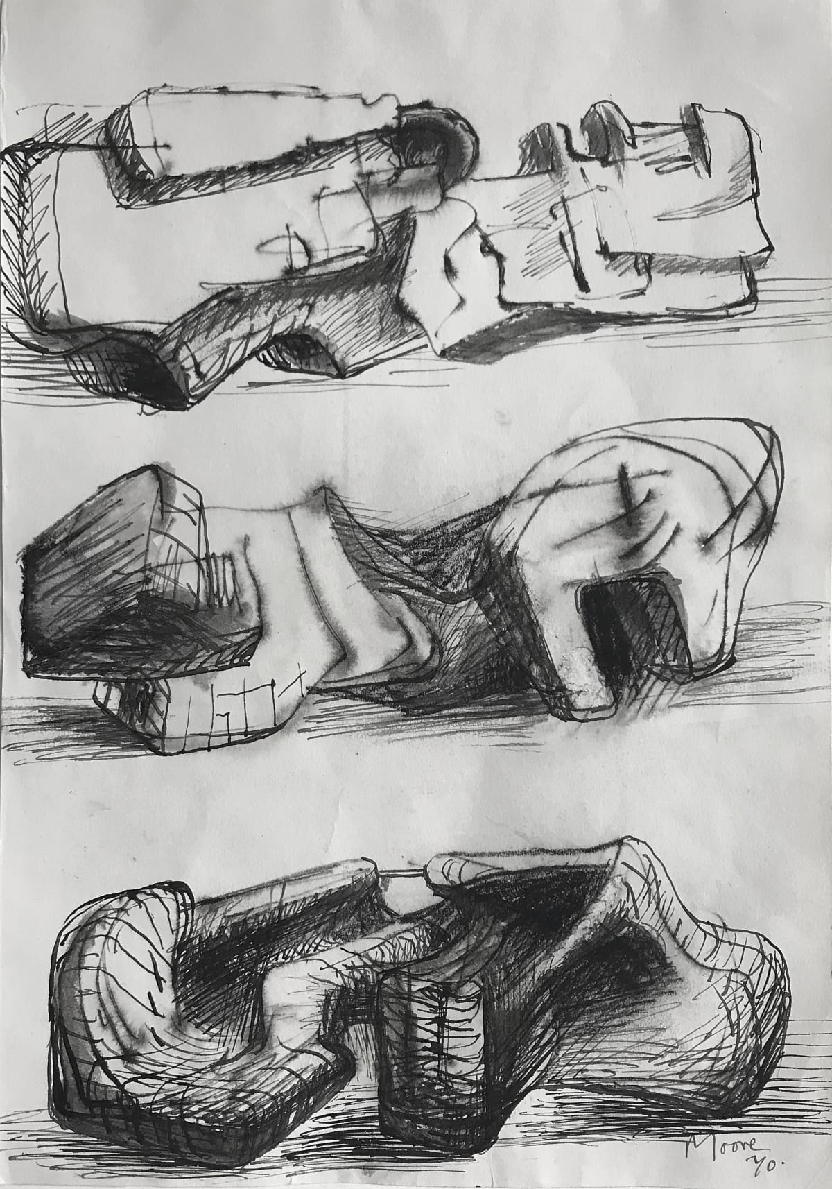 Henry Moore, Three Sculpture Motives, 1970