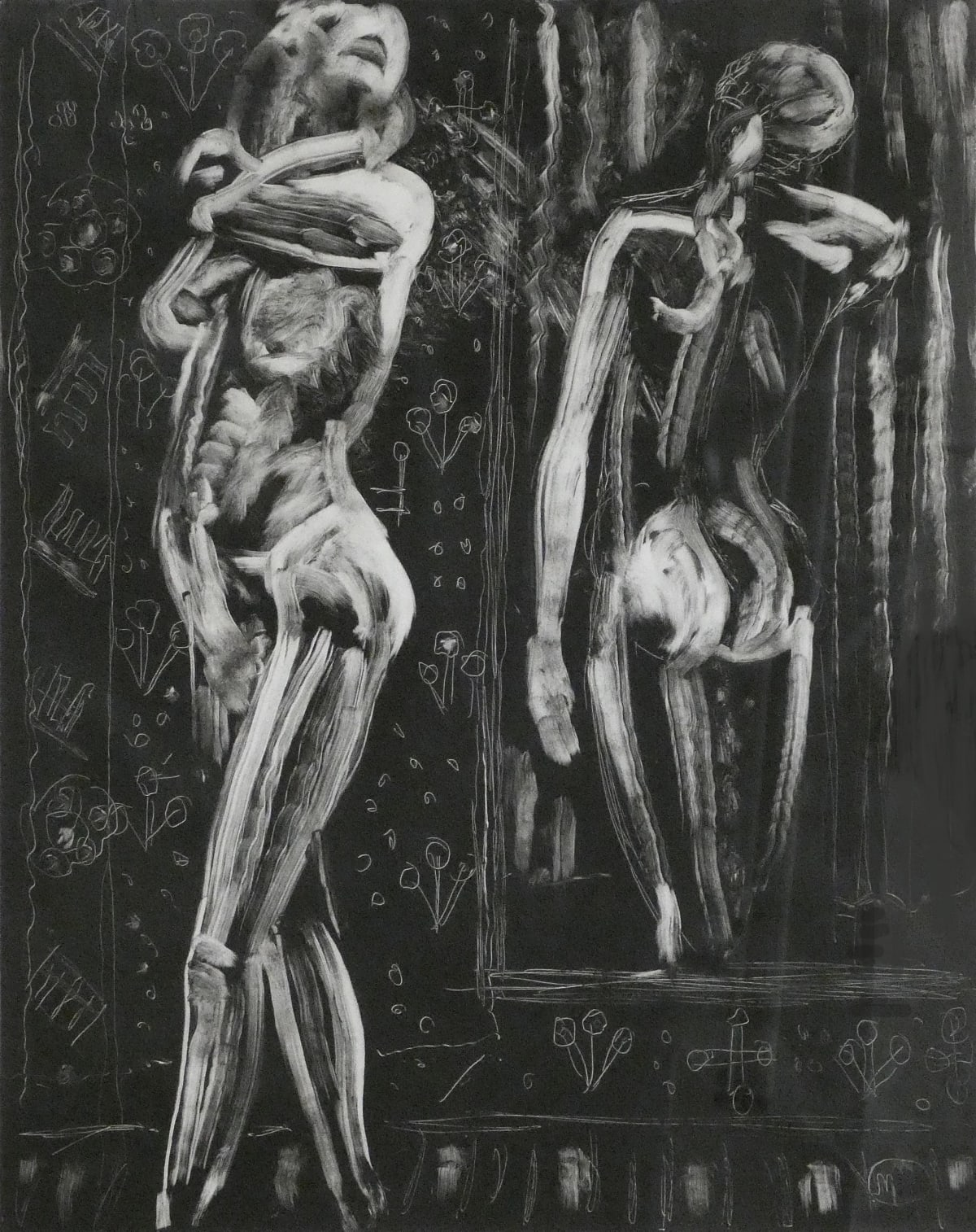 Leonard McComb, Standing nude with mirror, 2010