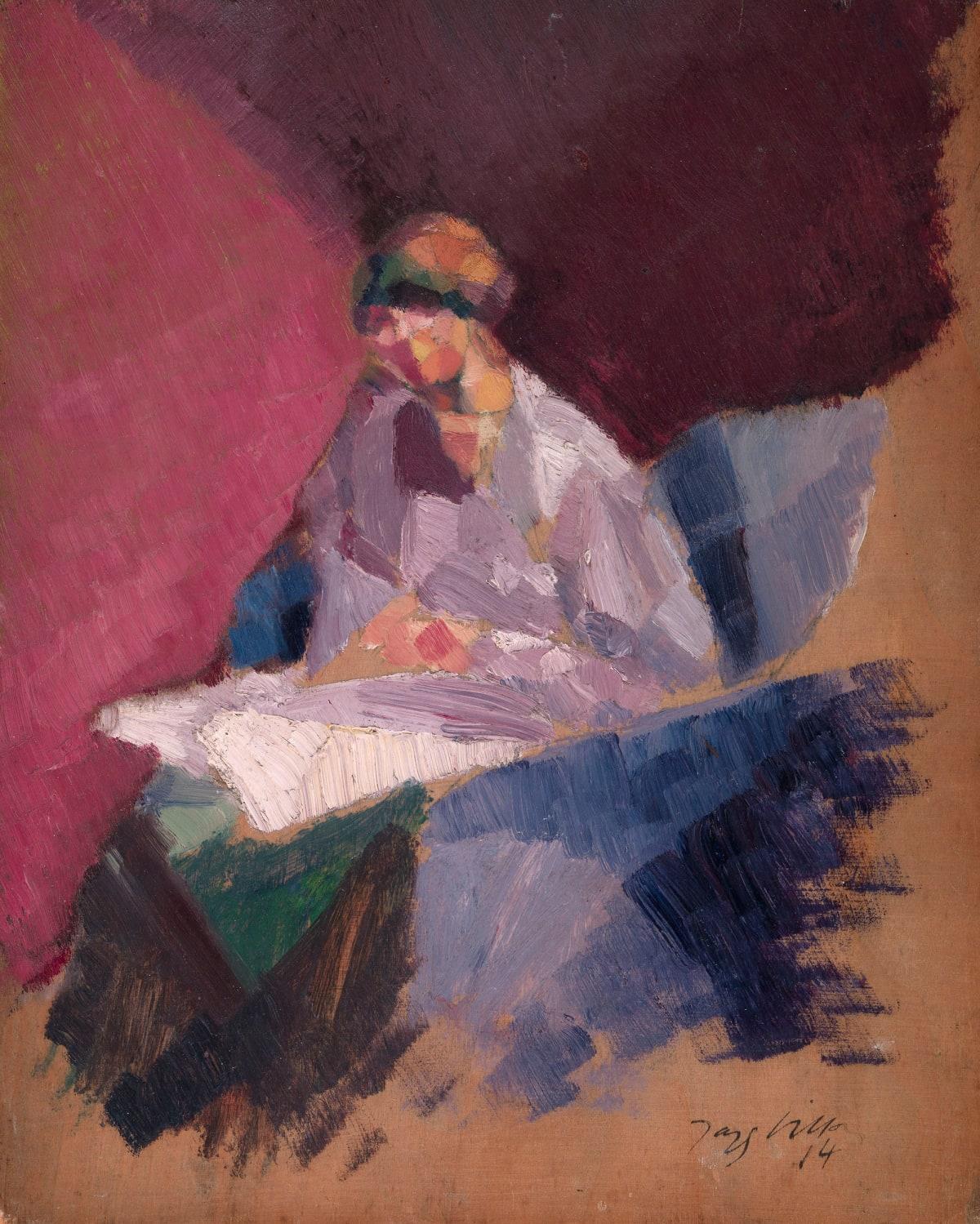 Jacques Villon, La femme blessée (Yvonne Duchamp), 1914