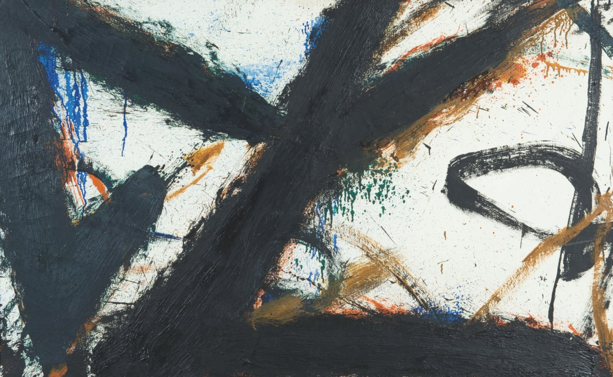 Norman Bluhm, Untitled white background, 1965