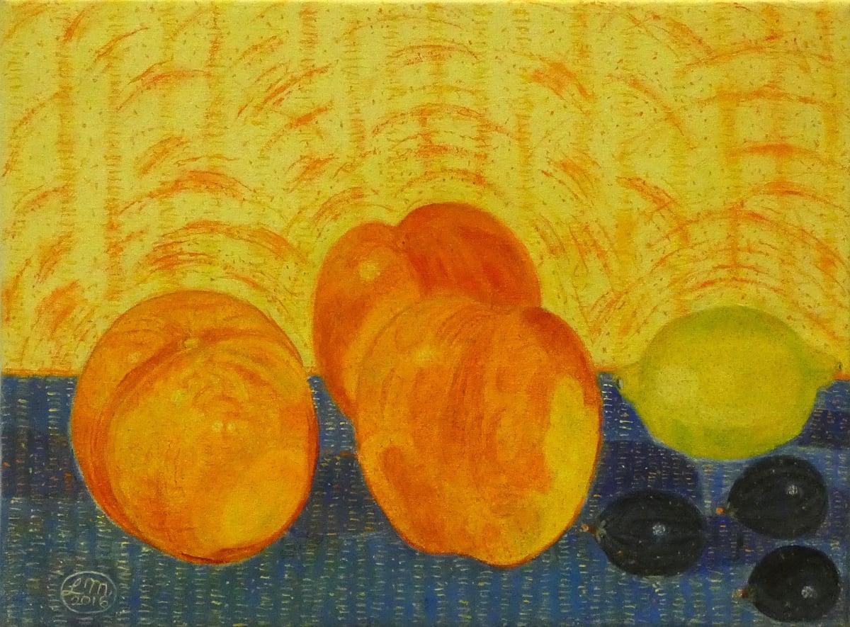 Leonard McComb, Figs, Lemons and Peaches, 2016