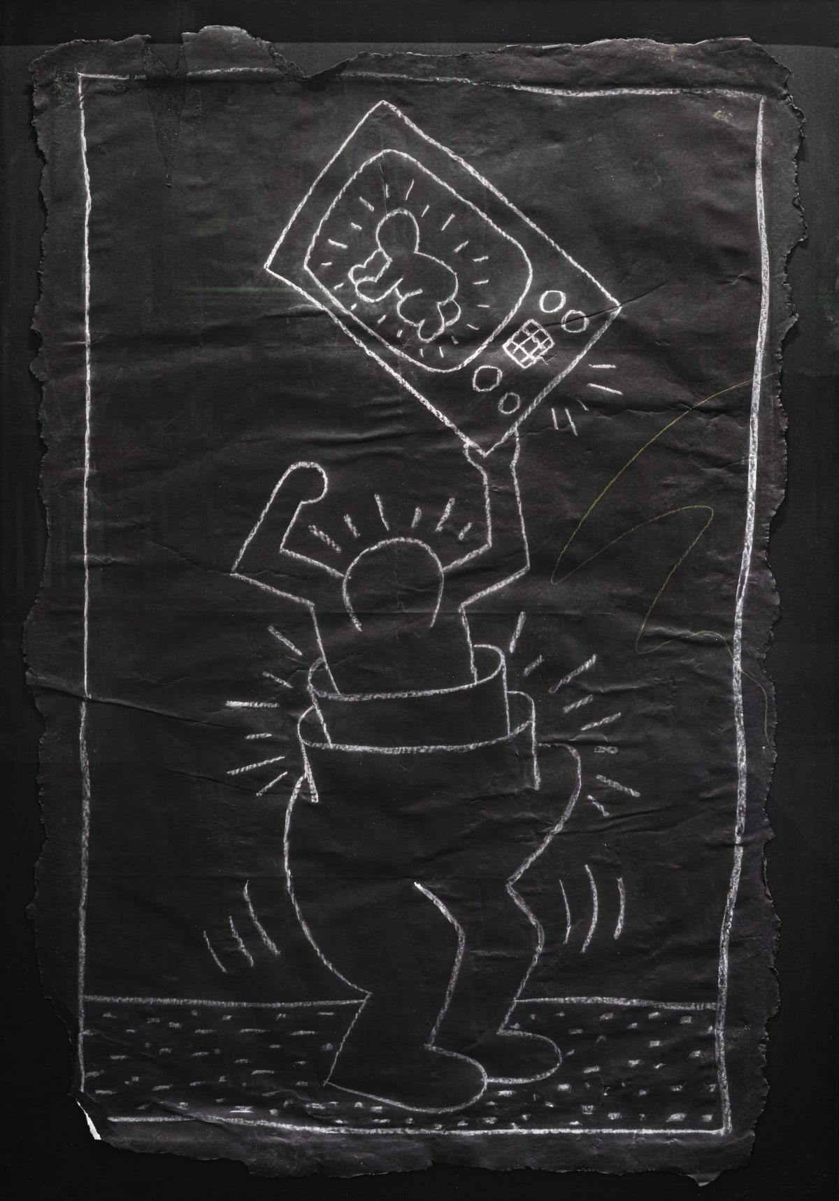 Keith Haring, Subway Drawing, 1983