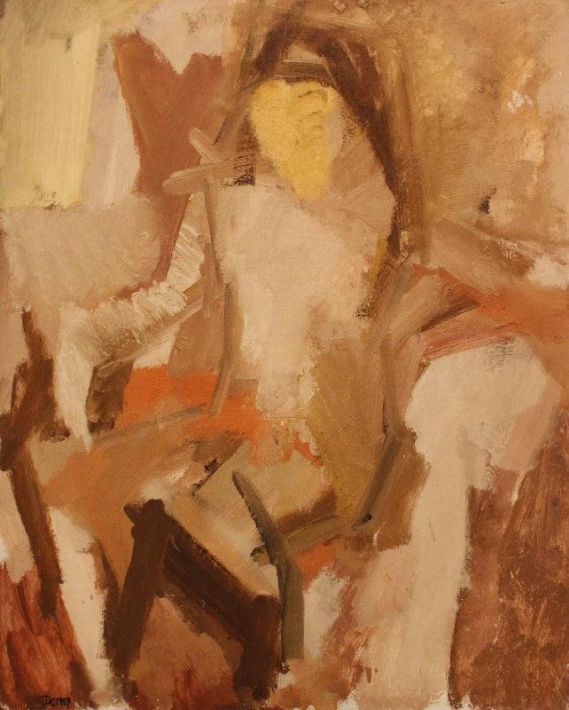 Dennis Creffield, Seated nude, 1959