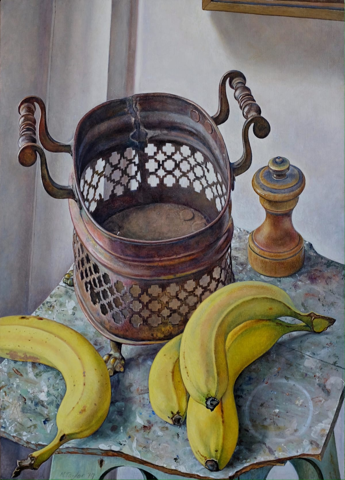 Michael Taylor, Copper Basket with Fruit