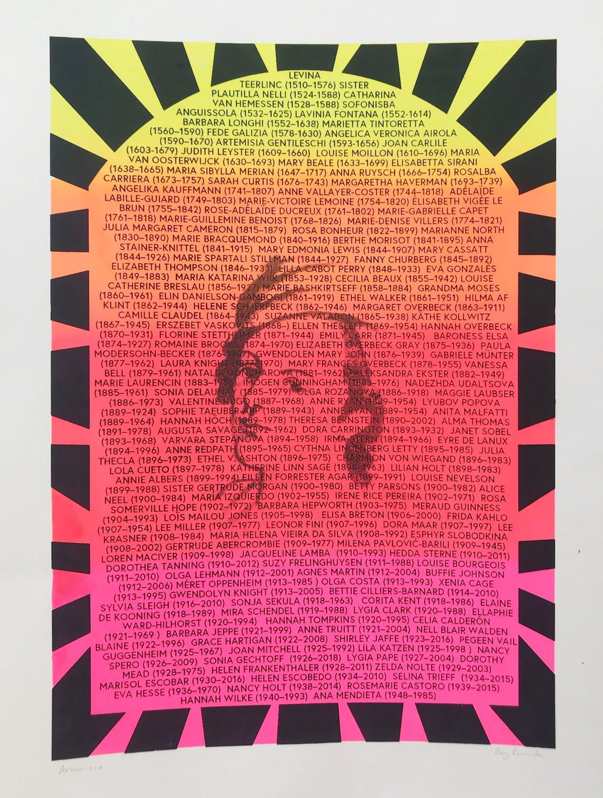 Putney School of Art and Design, Amy Reinecke, Artemesia
