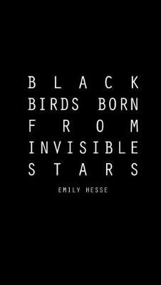 Emily Hesse, Black Birds Born From Invisible Stars, 2018