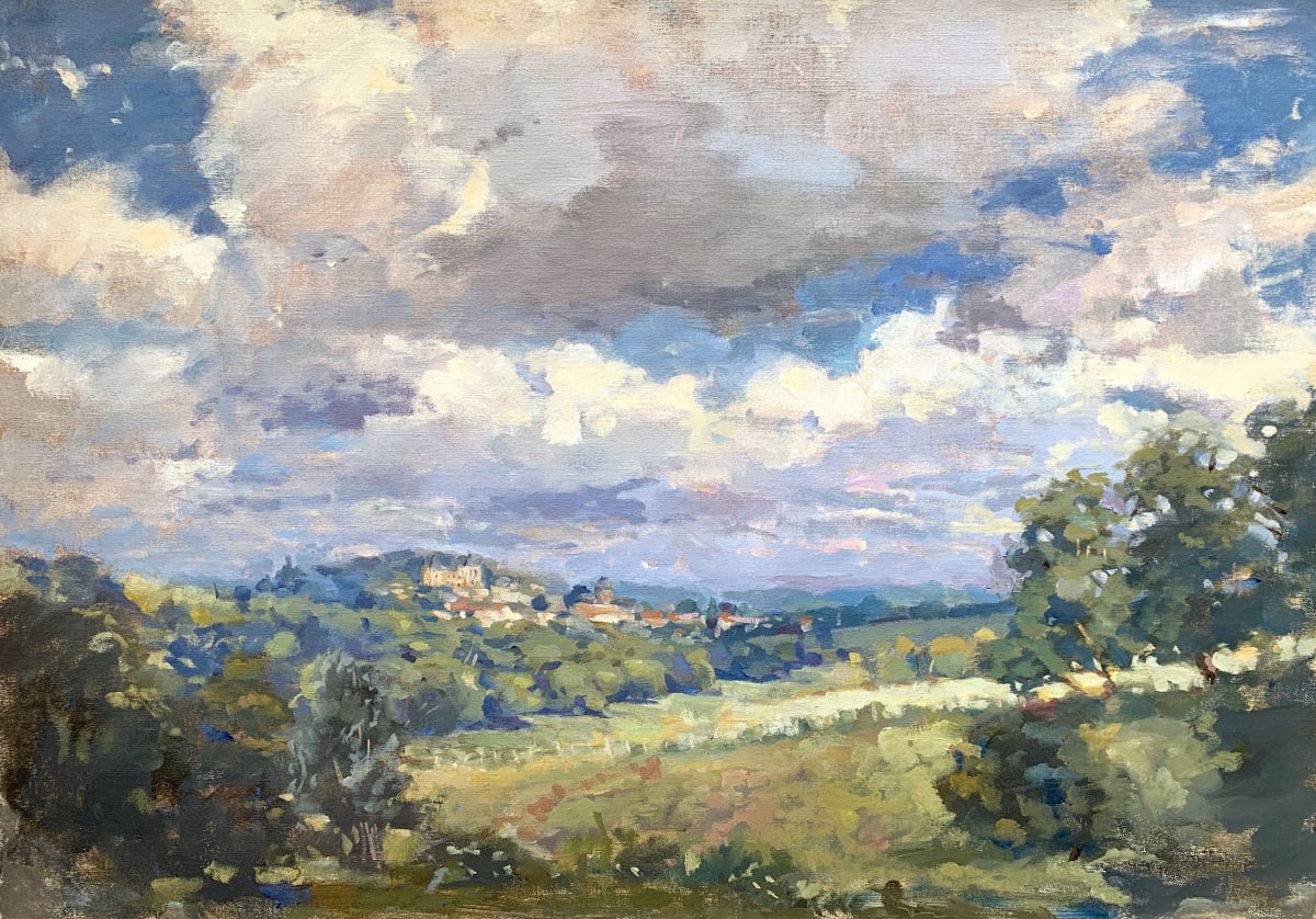Alice Boggis-Rolfe FRENCH LANDSCAPE Oil on Panel 20 x 28 in. 50.8 x 71.12 cm