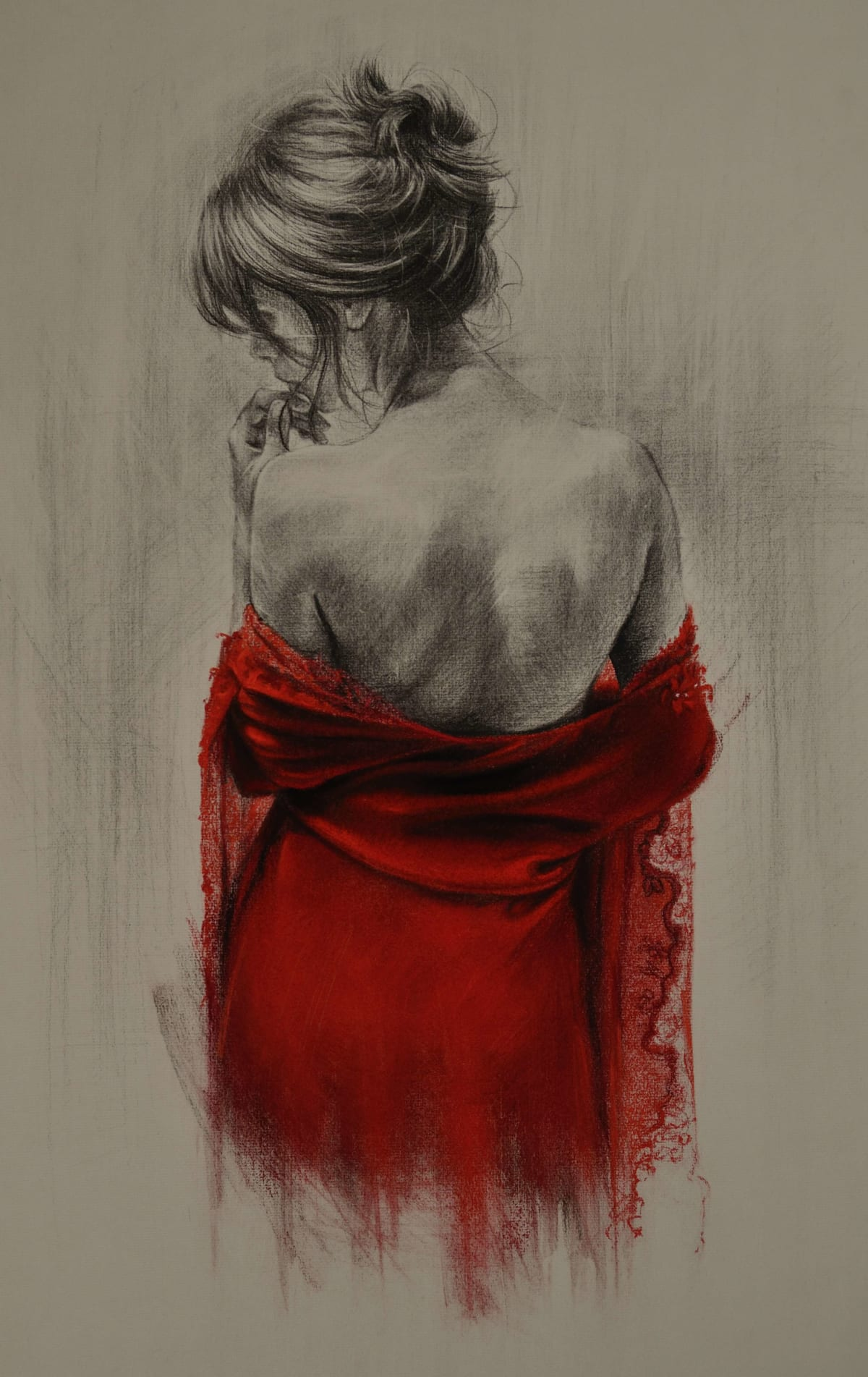 Trudy Good RED XXXVIII Pastel and charcoal on grey paper 20 x 27 in. 50.8 x 68.58 cm