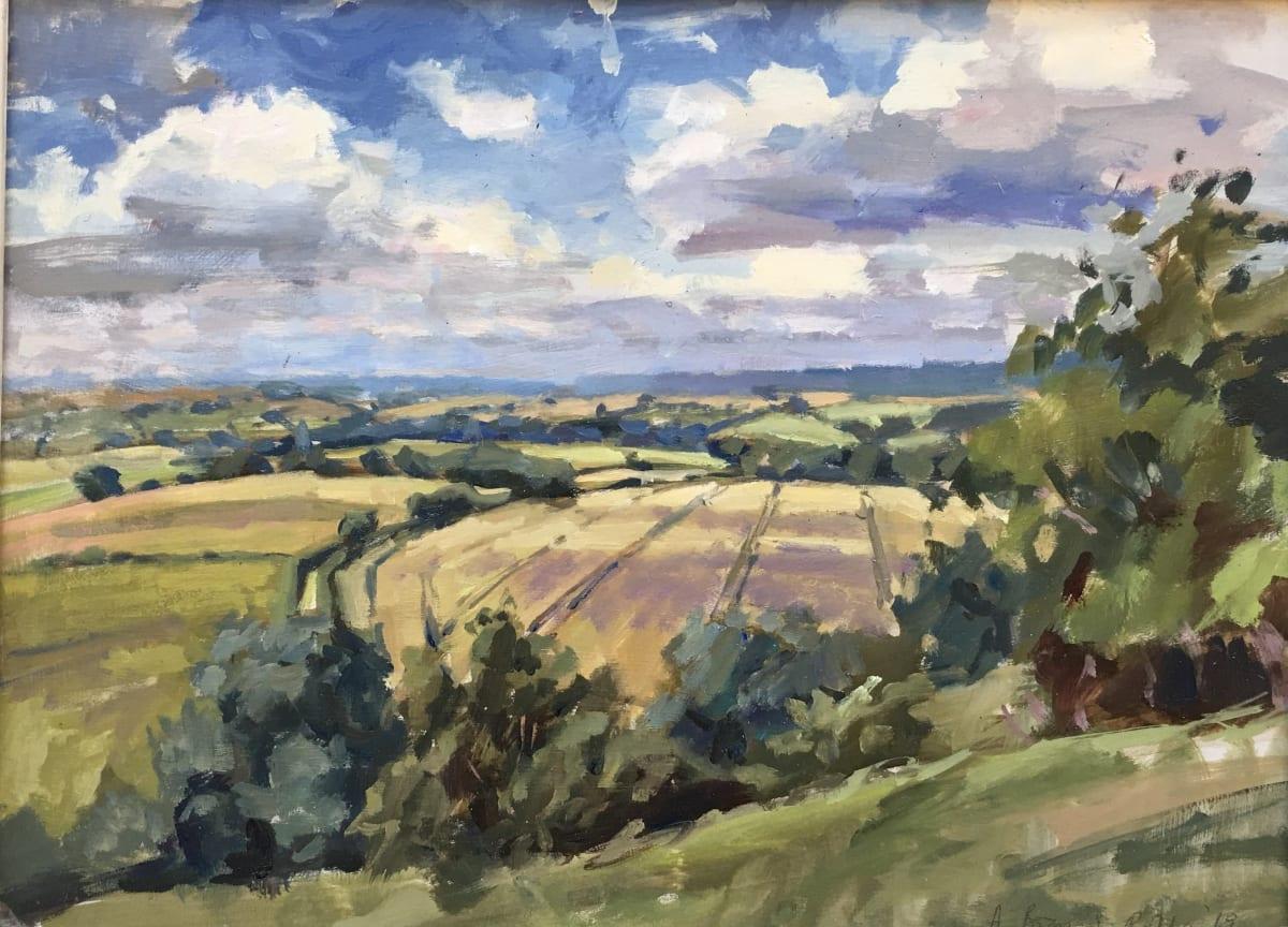 Alice Boggis-Rolfe STOCKBRIDGE DOWN Oil on Panel 12 x 16 in. 30.48 x 40.64 cm