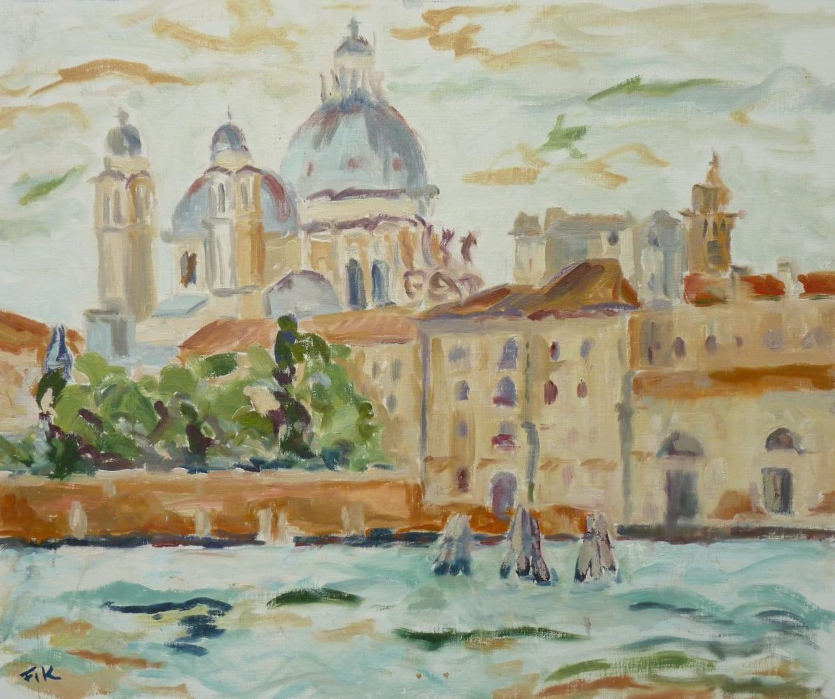 Fi Katzler SALUTE FROM THE GIUDECCA Oil on canvas board 18 x 22 in. 45.72 x 55.88 cm