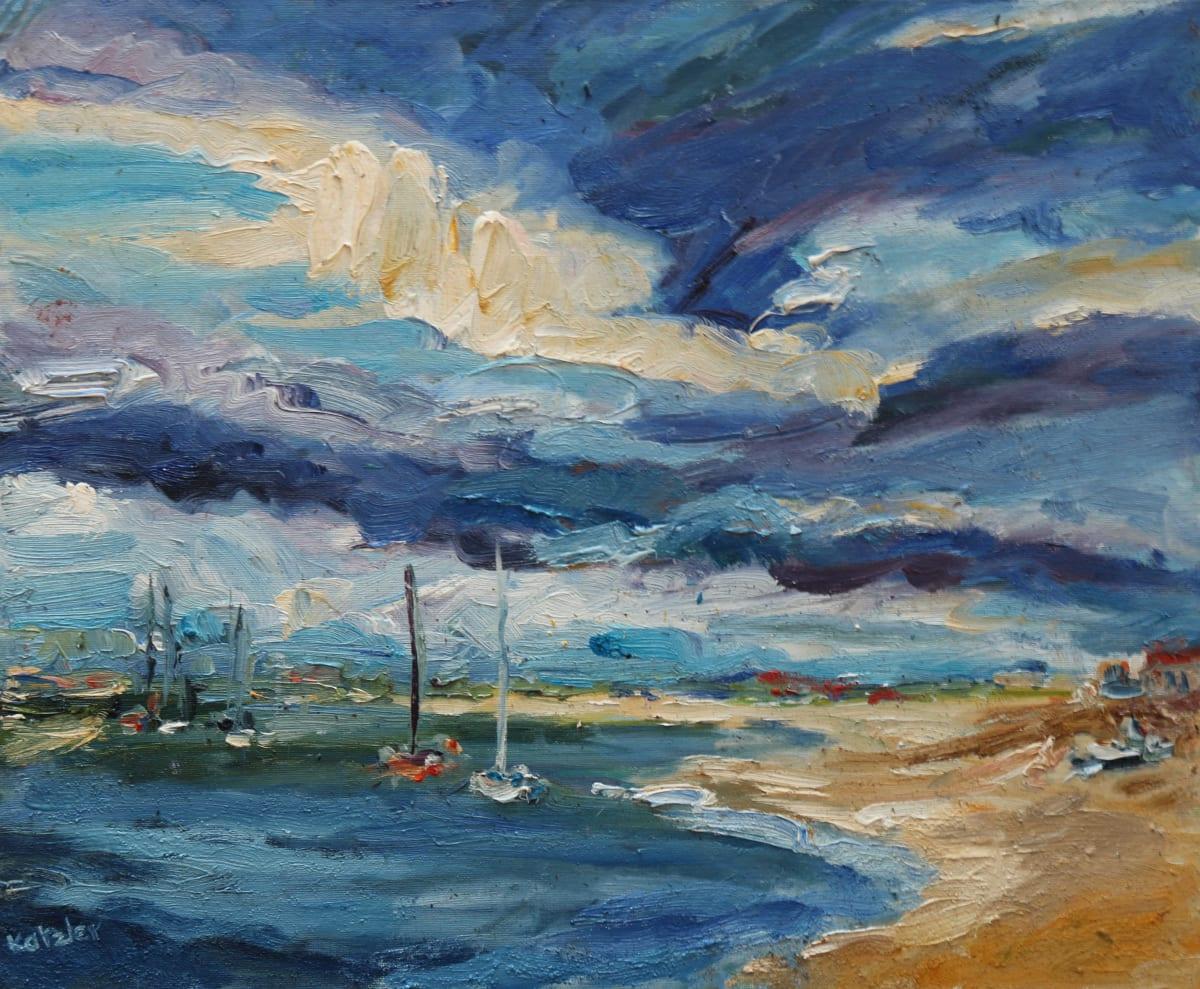 Fi Katzler PORTUGUESE ISLANDS Oil on canvas board 15 x 18 in. 38.1 x 45.72 cm