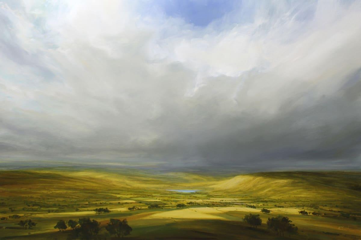 Harry Brioche LAST OF THE RAIN Oil on board 24 x 36 in. 60.96 x 91.44 cm