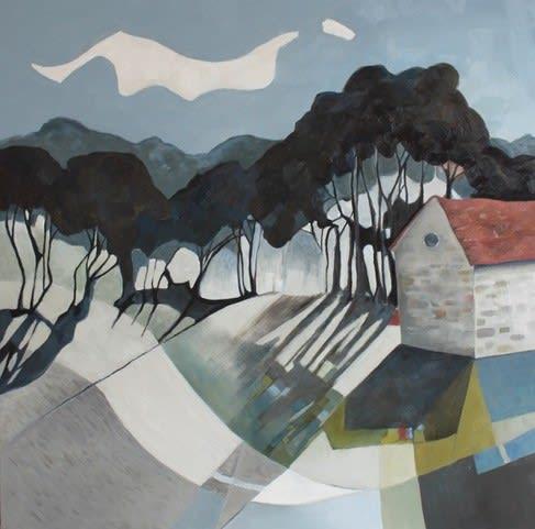 Teresa Lawton THE TOYMAKER'S STUDIO Oil on canvas 16 x 16 in. 40.64 x 40.64 cm